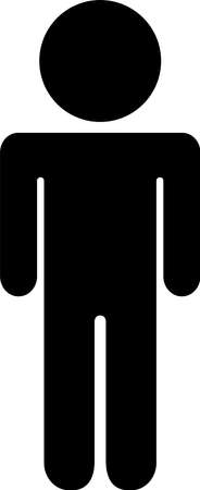 This is a silhouette icon of a person on a diet. Illusztráció
