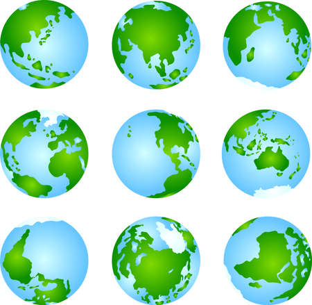 This is an illustration icon of the earth.This is an illustration icon of the earth. Vector Illustratie