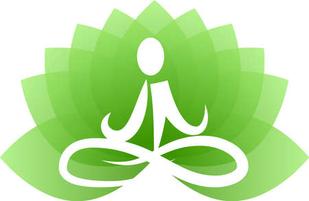 This is a logo illustration of Buddha who is doing yoga. Ilustração