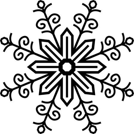 This is an illustration of snow crystal. Illustration