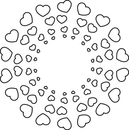 This is an illustration of a heart shaped circle.  イラスト・ベクター素材