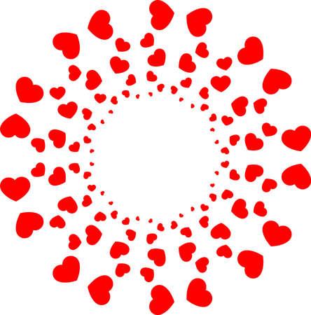 This is an illustration of a heart shaped circle. Illusztráció