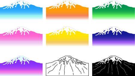 This is an illustration of the highest mountain in Japan called Mt. Fuji.