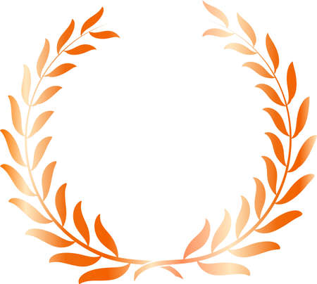 This is an illustration of a laurel circular material.