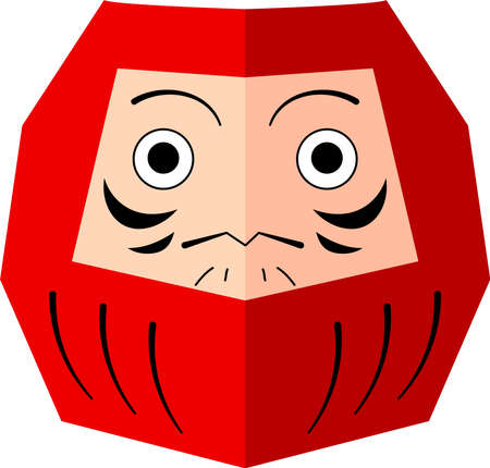 This is an illustration of a Daruma doll.