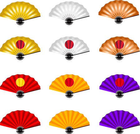 This is an illustration of Japanese style fan. Ilustracja