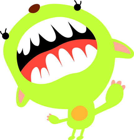 This is an illustration icon of a pretty monster.  イラスト・ベクター素材