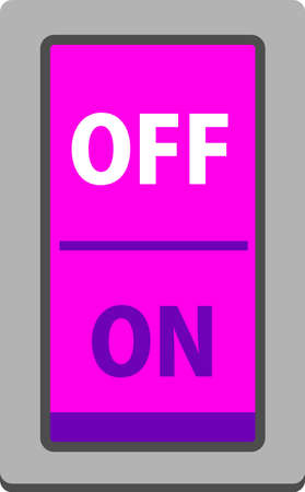 This is an illustration of a colorful ON OFF switch. Vettoriali