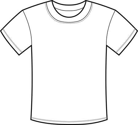 Ésta es una ilustración de una camiseta sencilla.