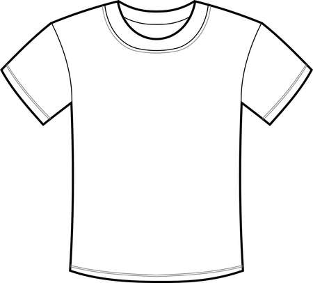 This is an illustration of a plain T - shirt. Illustration