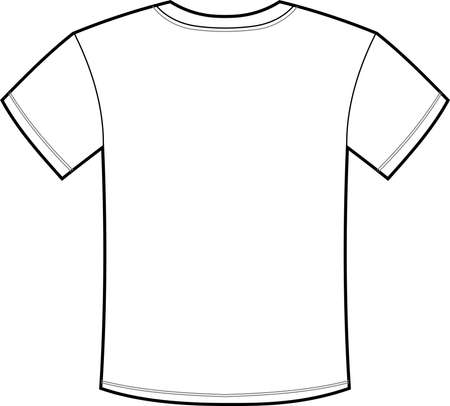Il s'agit d'une illustration d'un T-shirt uni.