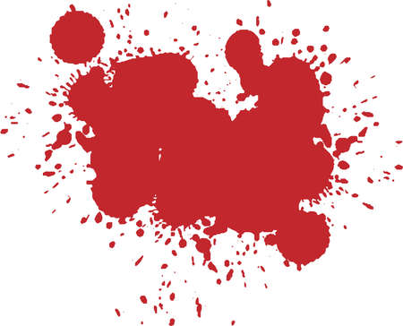 This is an illustration of horror-like blood splashes.