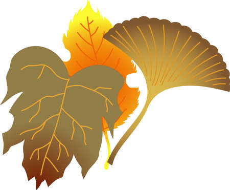 This is an illustration of a bunch of fallen leaves.