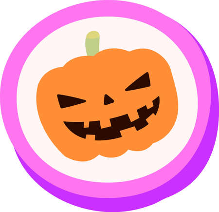 This is an illustration of a cute Halloween candy.