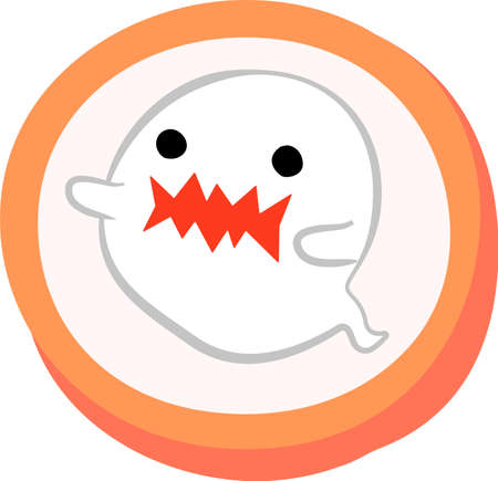 This is an illustration of a cute Halloween candy. Vetores