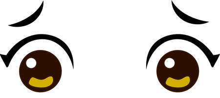This is an illustration of Japanese anime style eyes.