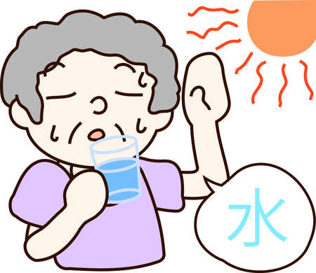 This is an illustration of measures against heat stroke.