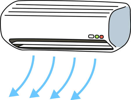 This is an illustration of the air conditioner. Ilustrace