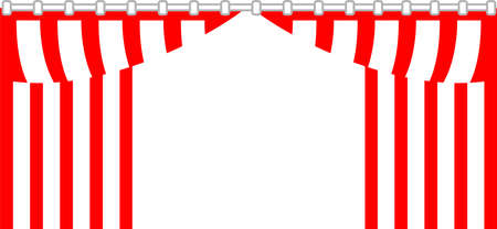 This is an illustration of the curtain used for a Japanese ceremony.