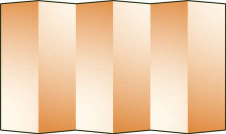 This is an illustration of Japanese luxurious folding screen.