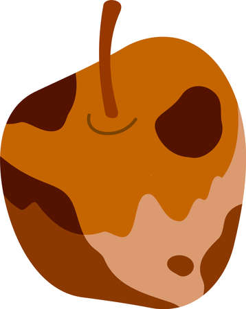 This is an illustration of rotten fruits.