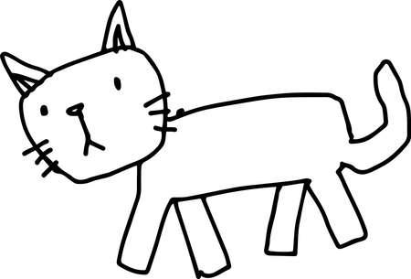 Dies ist eine Illustration von Kritzeleien, die von Kindern gezeichnet wurden. Vektorgrafik
