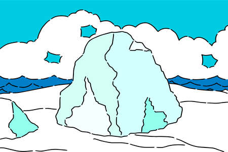 This is an illustration from the North Pole.  イラスト・ベクター素材