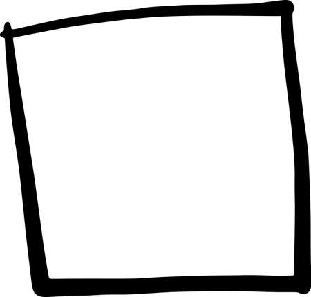 This is an illustration of a hand-painted square frame.
