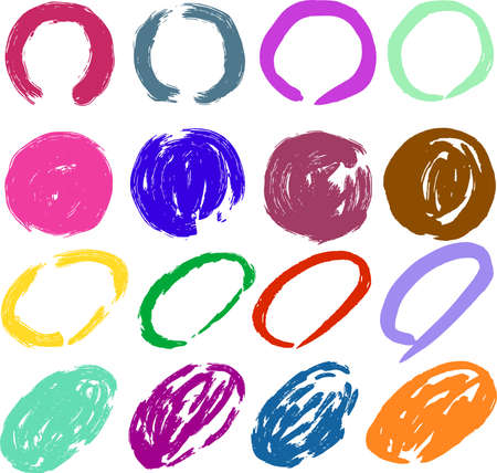This is an illustration of a hand-painted circular frame.