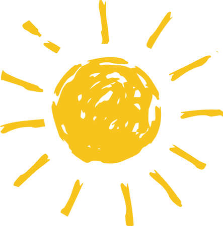 This is a hand-drawn cute sun icon illustration. Foto de archivo - 116791881