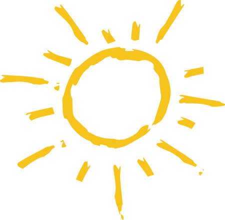 This is a hand-drawn cute sun icon illustration. Foto de archivo - 116337664