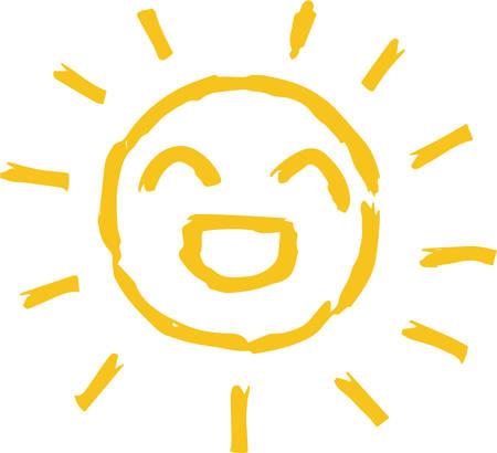 This is a hand-drawn cute sun icon illustration. Foto de archivo - 116791886