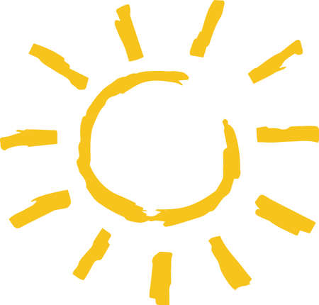 This is a hand-drawn cute sun icon illustration. Foto de archivo - 116791887