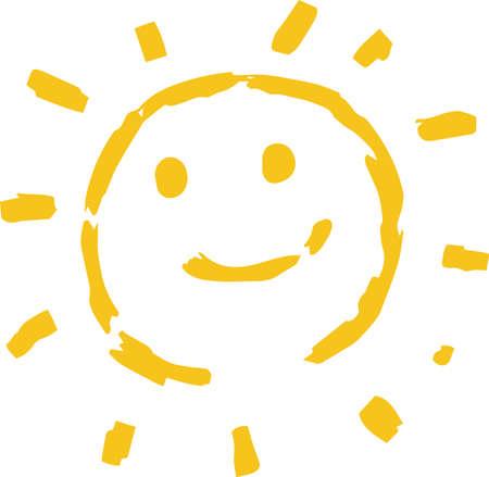 This is a hand-drawn cute sun icon illustration. Foto de archivo - 116337667