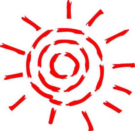 This is a hand-drawn cute sun icon illustration. Foto de archivo - 116791891