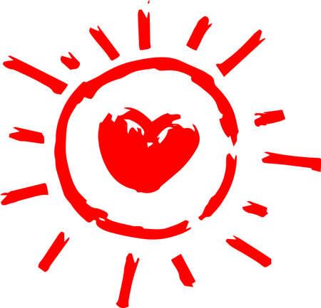 This is a hand-drawn cute sun icon illustration. Foto de archivo - 116791894