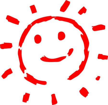 This is a hand-drawn cute sun icon illustration. Foto de archivo - 116791900