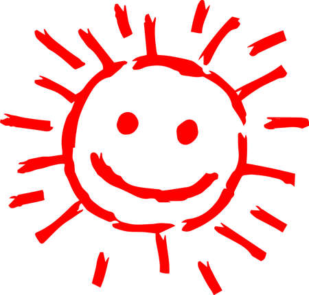 This is a hand-drawn cute sun icon illustration. Foto de archivo - 116791902