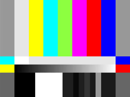 This is an illustration of the test pattern of the SD ratio screen. Stock Illustratie