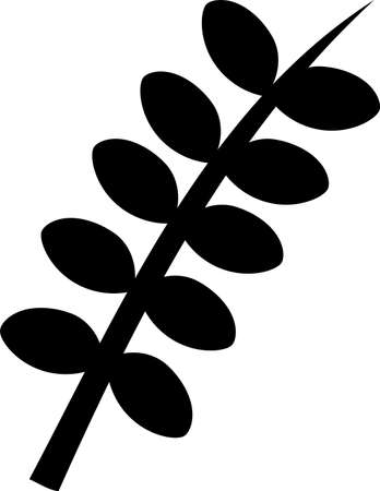 This is an illustration of a simple leaf icon.