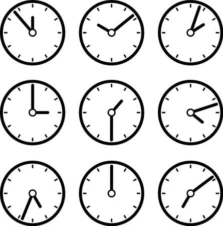 This is an illustration of the clock icon.