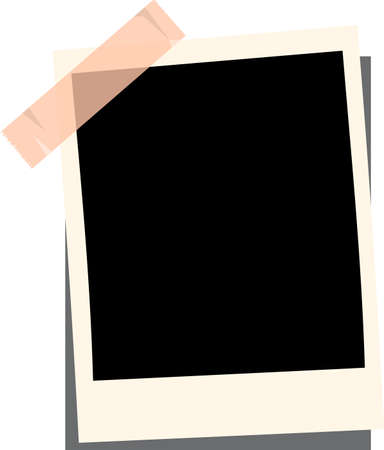 This is an illustration of a picture frame pasted with tape. Illustration