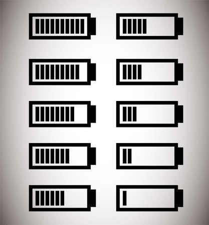 This is an illustration of the battery level. Ilustração