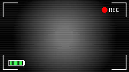 This is an illustration of HD Camera viewfinder background.