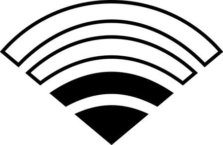 This is an illustration of the Wi-Fi signal. 일러스트
