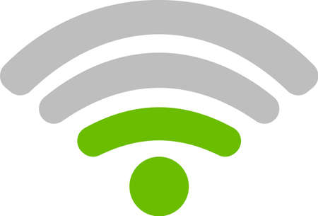 This is an illustration of the Wi-Fi signal. Illustration
