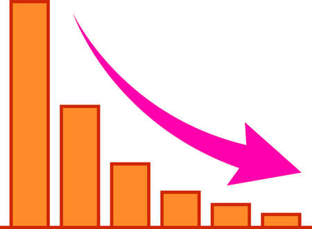 This is an illustration of a descending graph. Illustration