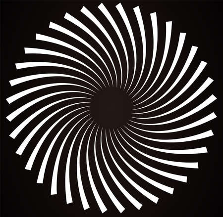 This is an illustration of Abstract Black Spiral Element.