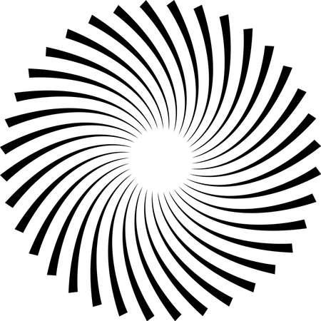 Il s'agit d'une illustration de l'élément abstrait en spirale noire.