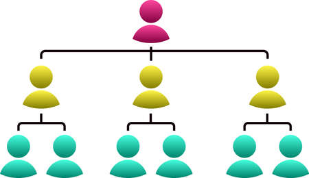 This is an illustration of organizational structure table set.